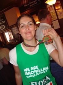 The post marathon trip to the pub....