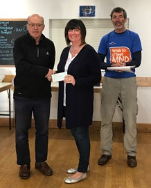 Ripon Runners donation to Motor Neurone Disease Association