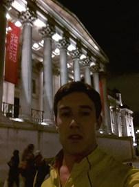 Running through Trafalgar Square