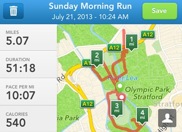 My run stats - it's all about the knowledge management...