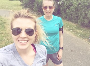 Jess + Nat putting everyone to shame with their daily lunch runs!
