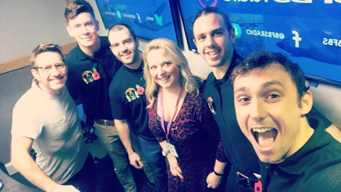 The team on their first radio interview! Cheers BFBS