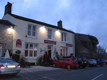 Tennant Arms (top food) and Kilnsey Crag