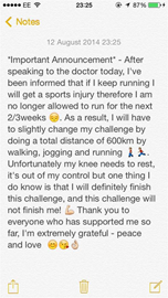 Important Announcement - Knee Update