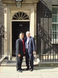Chris with MP Sadiq Khan