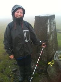 Sheila at Culterfell Summit. 748m