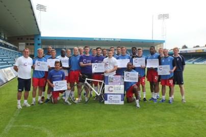 Gillingham FC Team support Charlie's 2000 Mile Challenge