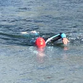 Last swim of the season in Lake 86