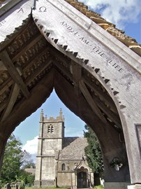 St Mary's, Great Witcombe through the lych-gate