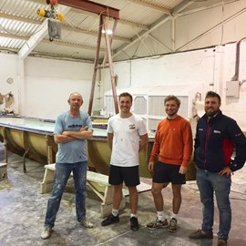 Rannoch build team with Max and Paddy