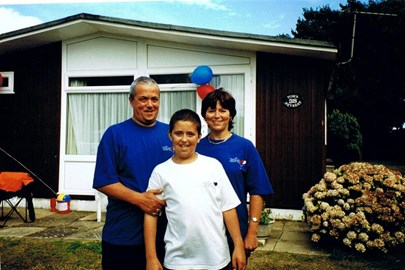 Mum, Dad,Tom, first chalet for sick kids