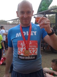 With Medal and well deserved Champagne