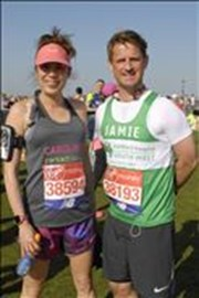 With super fast Jamie Vittles (running for another amazing cause, Children's Hospice South West)
