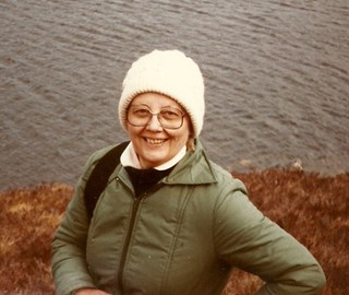 Mum walking in the Highlands.