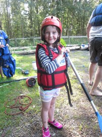 Elspeth enjoying raft building CMN w/end