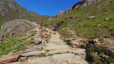 Running down Snowdon  time is tight!