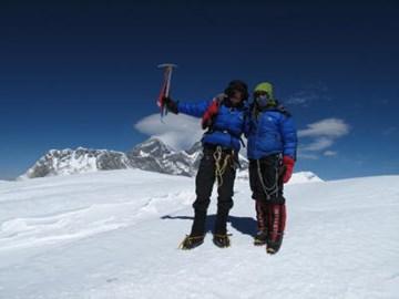 Calum and Sandy on the summit!