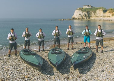 The Norway 75 Team training on the Isle of Wight