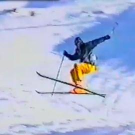 Justin taking a leap in Austria, 1997