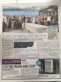 It's official, we're in the paper! No going back now..!