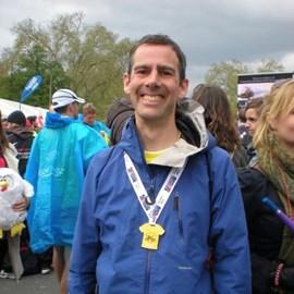 Finishing the Paris marathon 2012