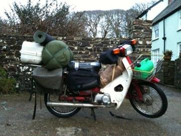 Here's the bike fully loaded