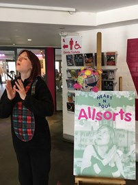 "Busy in ""PUFFING & WOOLING-MODE"", running a Session for ""ALLSORTS"", one of ""HEART 'n' SOUL's"" AMAZING PROJECTS! XxXx"