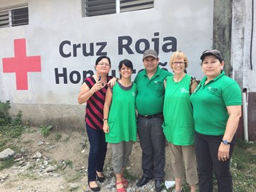 Our team at the Red Cross in Omoa, Honduras