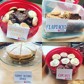 We hold a monthly bake sale at our HQ in aid of Victim Support. We always raise loads of money - plus we get to eat cake!