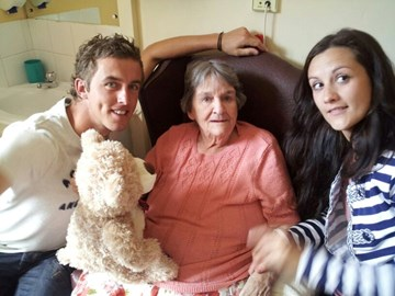 Mum, (Grandson) Paul &his girlfrie Laura