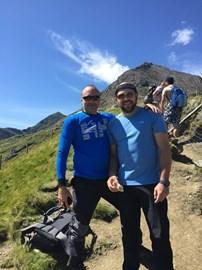 Marc & Matthew training up Snowdon