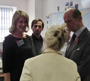 Meeting HRH Duke of Kent at Nacoa