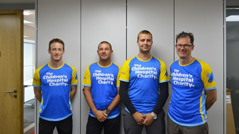 Our runners: Michael Harrison, Darren Bunker, Tom Haslam and Daniel Salthouse