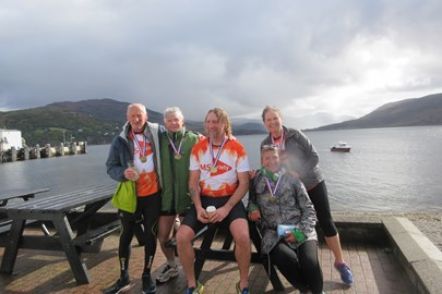 Had a great day (in changeable weather) taking part in Ullapool's first sprint triathlon.