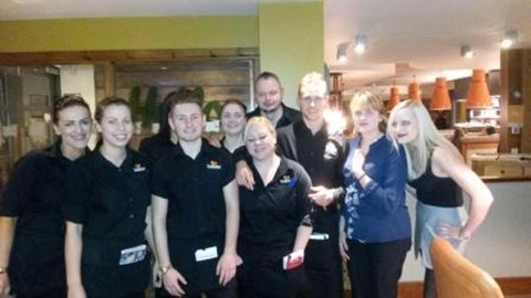 12 Days of Christmas Challenges - photo with restaurant staff