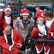 Charity Patron with Santa Run participants in 2017