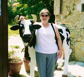 mum on hols (with a cow...)