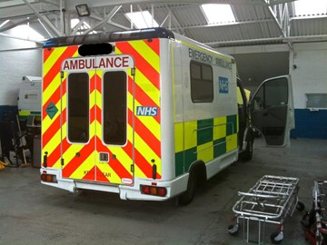 Our ambulance and home for five weeks...