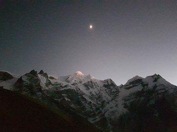 Mera Peak by moonlight