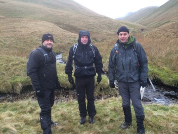 Stuart, Nick, Kemal and Tom brave the cold Cumbrian winter for some hiking & team bonding in preparation for their climb up Mount Cameroon