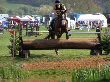 Ian and his beloved horse, Moose competing at Hambleden horse trials