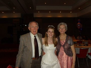 With my grandad and Jean at my wedding do