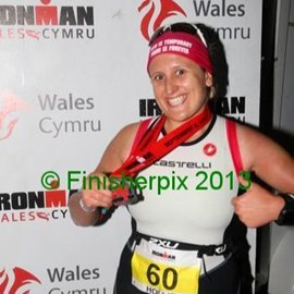 Finish of Ironman Wales