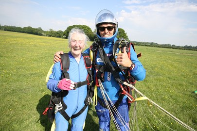Irene after her skydive!