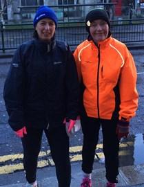Jayne and I before training run