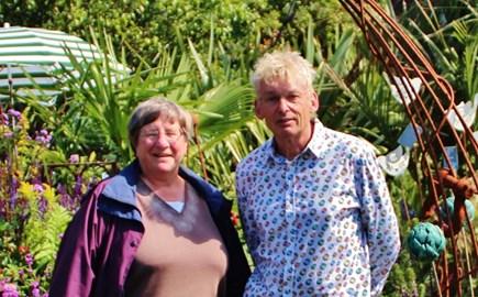 Trail Organiser, Geoff Stonebanks  with patron Christine Walkden