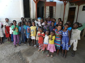 Children living in the Watoto Wa Africa Orphanage which Kids Aid Tanzania support on a monthly basis