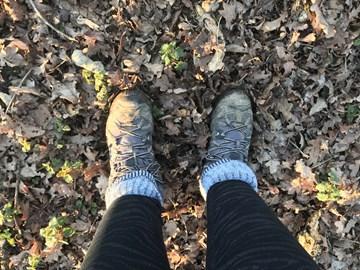 Intrepid explorer feet!