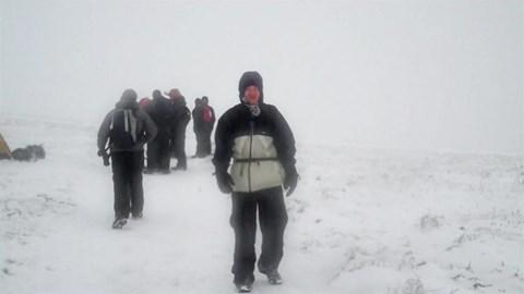 Chris on Sugar Loaf 3 Peaks 2013