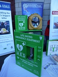 Public Access AED with secure weatherproof heated box